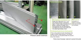 Sound Absorbing Panel Aluminum Eco Kyuon Aluminum Soundproof Panel Kobelco Engineered Construction Materials Co Ltd