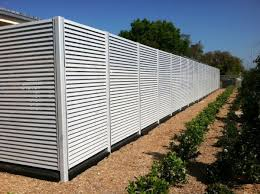Aluminum Fixed Louver Fence Ametco Manufacturing
