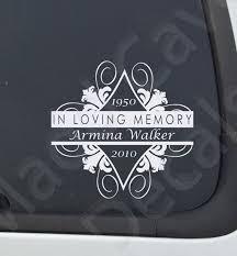 In Loving Memory Of Memorial Decal Missing You Decal Etsy Memorial Decals Memorial Decals Cars In Loving Memory