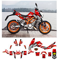Custom Mx Vinyl Graphics Decal Sticker Kit Compatible With Ktm Duke Shark Sale Affordable Mx Graphics Quad Stickers Motorcycle Decals Store