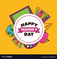 Teachers day card Royalty Free Vector Image - VectorStock