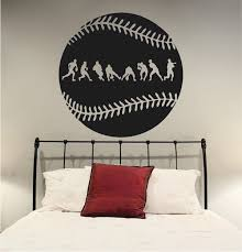 Baseball Fielder Action Wall Decal Trendy Wall Designs