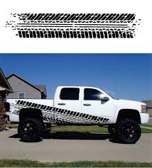 Truck Muddy Tire Tread Bedside Graphic Set Of 2 Custom Sticker Shop