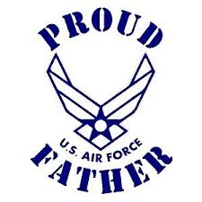 Proud Air Force Father Vinyl Decal Sticker Country Boy Customs Store