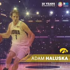 """Big Ten Men's Hoops on Twitter: """"Adam Haluska teamed up with Greg Brunner &  Jeff Horner to lead @IowaHoops to its 2nd #B1GTourney title in 2006.  https://t.co/GzVsiMCYim"""""""