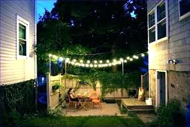 outside patio lights back yard