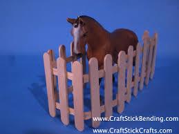 Popsicle Stick Horse Fence Craft Stick Crafts
