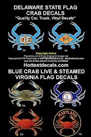 Delaware Crab Decal Virginia Crab State Flag Sticker Car Truck Boat Yeti Cooler Ebay