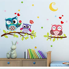 Wall Stickers Of Tree Owls Wall Decals For Kids Rooms Nursery Baby Boys Girls Bedroom Wall Stickers Aliexpress