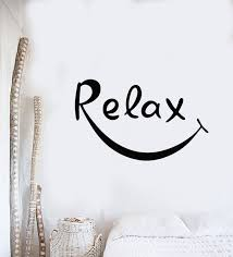 Vinyl Wall Decal Relax Relaxation Smile Spa Therapy Centre Stickers Mu Wallstickers4you