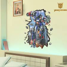 Newest Wallpaper Adhesive Transformer Sticker Movie Posters Home Decal For Boys Fast Shipping Large Size 100 70cm Wall Decal Wall Decals Stickers Moviewallpaper Adhesive Aliexpress