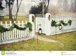 White Picket Fence Stock Image Image Of Nature Lanterns 68281515