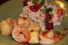 Pan Seared Scallops and Shrimp