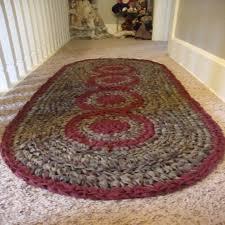 crocheting a multi circle oval rag rug