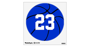 Blue Basketball Jersey Number Locker Room Decals Zazzle Com