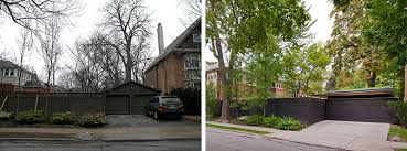 Before After A Fence And Garage Update For A Home In Toronto