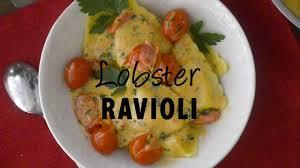 Lobster Ravioli with Tomato Cream Sauce ...