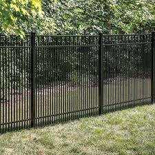 Freedom Standard York 5 Ft H X 6 Ft W Black Aluminum Flat Top Decorative Lowes Com In 2020 Metal Fence Panels Metal Fence Fence Panels