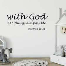 Removable Modern Letters Proverbs Bible Verse Wall Art Stickers Wall Decal Home Wall Stickers English Poetry Home Decoration Wall Stickers Aliexpress