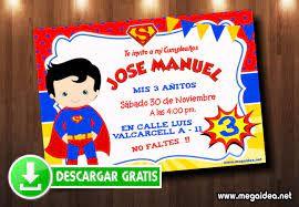 Invitacion Superman Para Editar Gratis Mega Idea