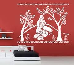Large Shakuntala With Deer Wall Decal Ethnic Indian Kakshyaachitra 1030316