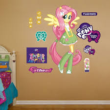 Hasbro My Little Pony Fluttershy Equestria Kids Peel And Stick Wall Decal Hasbro My Little Pony Wall Decals Girl Decals