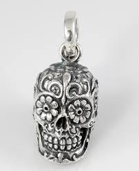 handmade sterling silver sugar skull