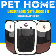 4 Color Folding Pet Tent Cage Fence Playpen For Dogs Home Puppy Fence Kennel Kitten House Cage Dog House Pet Exercise Pl Shopee Malaysia