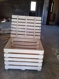 diy wooden pallet storage box plans
