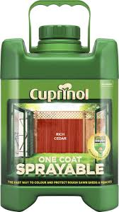 Cuprinol 5l Spray Fence Treatment Rich Cedar Amazon Co Uk Diy Tools