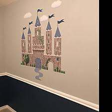 Amazon Com Castle Wall Decal Blue Stone Castle Decal Medieval Castle Removable Reusable Peel And Stick Home Kitchen