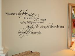 Home Is Where Friends Family Beautiful Wall Decals