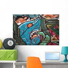 Amazon Com Wallmonkeys Graffiti Wall Wall Decal Peel And Stick Graphic Wm95836 36 In W X 24 In H Home Kitchen