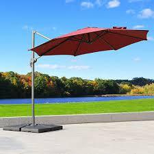 hanging tilt offset patio umbrella
