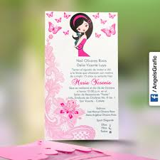 Tarjeta De Invitacion Para Quince Anos Qn 6101 Angels Graphic