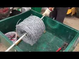 How To Put Up A Barbed Wire Fence Easy Way To Run Wire Using Fence Fork T Post Clips Youtube