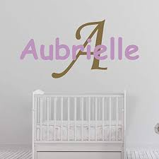 Amazon Com Girl S Custom Name And Initial Wall Decal Choose Your Own Name Initial And Letter Styles Multiple Sizes Girl S Custom Name And Initial Wall Decal Sticker Personalized Name Wall Decal Wall Decal