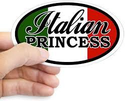 Amazon Com Cafepress Italian Princess Oval Sticker Oval Bumper Sticker Euro Oval Car Decal Home Kitchen