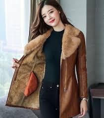 slim fit very soft fur lining brown