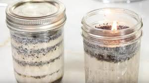 coffee and vanilla scented mason jar candle