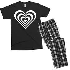 Custom Heart Sticker Vinyl Decal Men S T Shirt Pajama Set By Mdk Art Artistshot