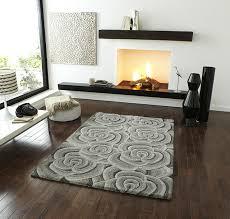 wool rug large 3d rose flower effect