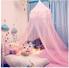 Amazon Com Nydecor Mosquito Net Canopy Bed Curtains Dome Princess Stars Bed Reading Tent For Girls Kids Indoor Game House Pink Home Kitchen