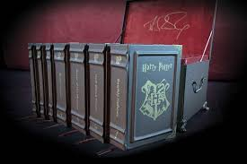 harry potter book set in trunk leather