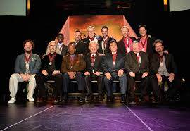 Lee Young, Buddy Mullins, Wes Hampton, Todd Suttles, Gary McSpadden, Jim  Murray, Front, Russ Taff, Guy Penrod, Larnelle Harris, Bill Gaither,  Marshall Hall, David Phelps, Adam Crabb - Larnelle Harris and Wes