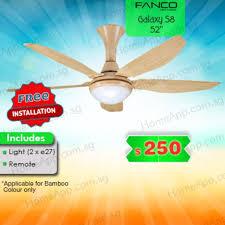fanco galaxy s8 ceiling fan 52 inch