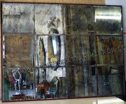 distressed mirror tiles