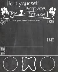 chalkboard birthday poster template enom