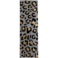 dellrey black gray gold area rug with