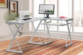 modern office glass computer desks